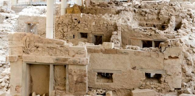 Древний город Акротири на острове Санторин