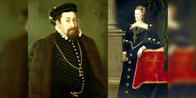 Максимилиан II Габсбург и инфанта Мария