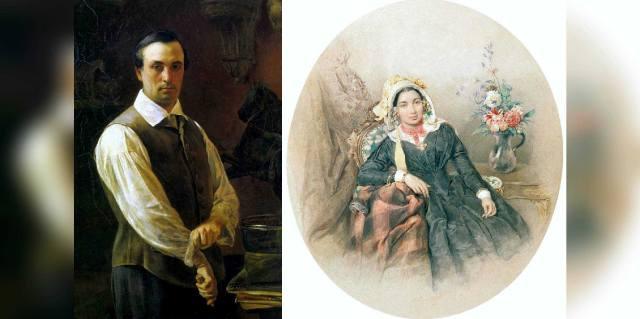 Пётр Клодт и его жена Иулиания