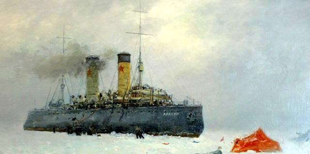 Спасение экспедиции Умберто Нобиле ледоколом Красин